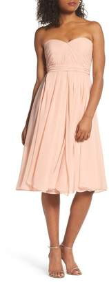 Jenny Yoo Collection Emmie Convertible Chiffon Tea-Length Dress