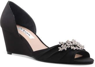 Nina Emiko Embellished Evening Wedges Women Shoes