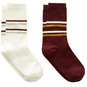 MANGO 2 pack striped socks