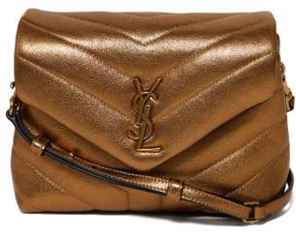 Saint Laurent Loulou Quilted Metallic Leather Cross Body Bag - Womens - Metallic