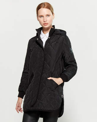 DKNY Shirttail Bottom Quilted Jacket