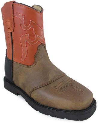 SMOKY MOUNTAIN Smoky Mountain Kid's Autry Side Zipper Distress Leather Cowboy Boot Toddler