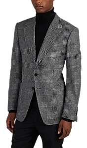 Tom Ford MEN'S PLAID WOOL TWEED TWO-BUTTON SPORTCOAT - GRAY SIZE 42 R