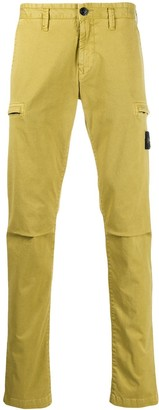 Stone Island logo patch chinos