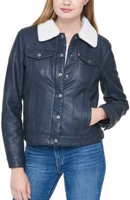 Levi's Levis Women's Faux-Leather Trucker Jacket