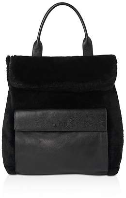 Whistles Verity Shearling Backpack