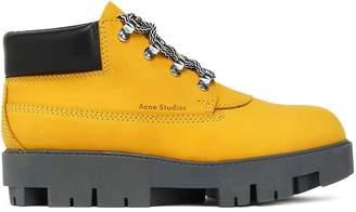 Acne Studios Tinnie Alu Suede Platform Ankle Boots