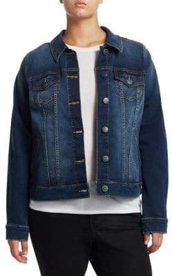 Slink Jeans, Plus Size Plus Full-Length Denim Jacket