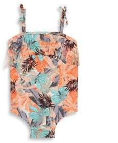Jessica Simpson Baby's One-Piece Tropical-Print Swimsuit
