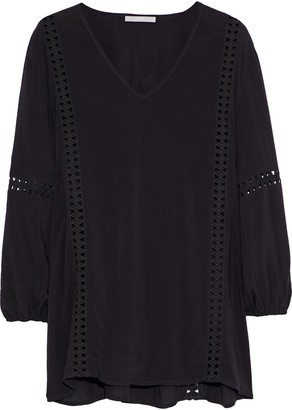 Tart Collections Bianca Cutout Embroidered Voile Blouse