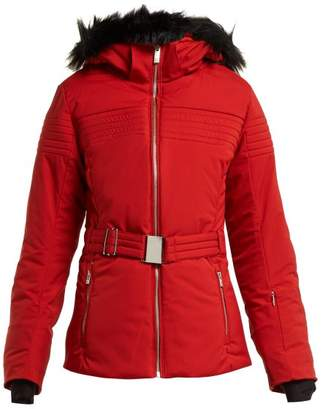 Fusalp - Belted Padded Ski Jacket - Womens - Red