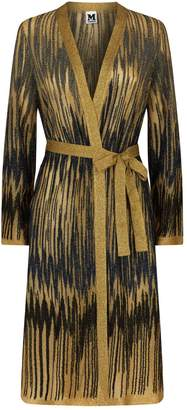 M Missoni Metallic Belted Textured Cardigan