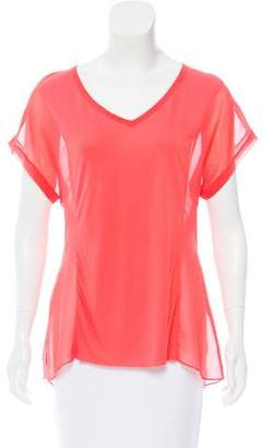 Rag & Bone Contrasted Short Sleeve Top