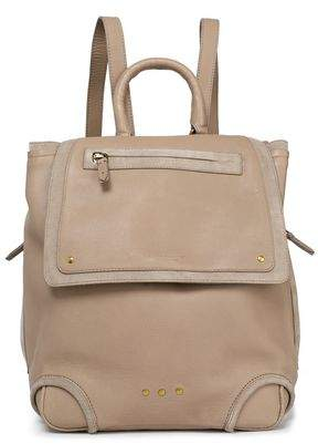 Jerome Dreyfuss Suede-Trimmed Leather Backpack