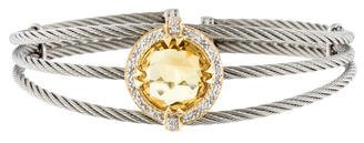 Charriol Charriol Citrine & Diamond Celtic Cable Bracelet