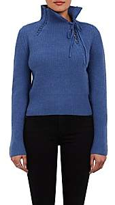 Derek Lam 10 Crosby WOMEN'S WOOL-BLEND MOCK TURTLENECK SWEATER-LT. BLUE SIZE S