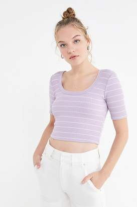 Urban Outfitters Ribbed Scoop-Back Cropped Top