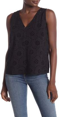 14th & Union Embroidered Eyelet Tank Top (Regular & Petite)