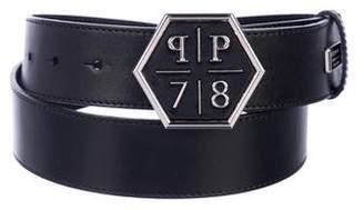 Philipp Plein Leather Logo Belt