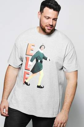 boohoo Big And Tall Elf License Print T Shirt