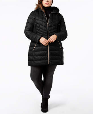 Bernardo Plus Size Packable Puffer Coat