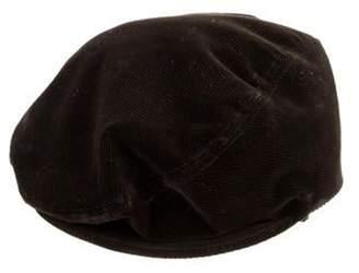 Dolce & Gabbana Corduroy Newsboy Hat Brown Corduroy Newsboy Hat