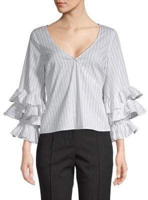 LIKELY Weston Ruffle-Sleeve Top