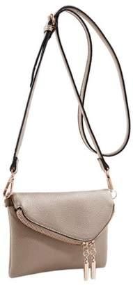 Mkf MKF Collection by Mia K Farrow Celebrity Style Saddle Crossbody Bag