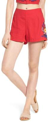 BP Embroidered Linen Blend Shorts