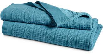 Lauren Ralph Lauren Closeout! Ultra Soft 100% Cotton Zig Zag Full/Queen Blanket Bedding