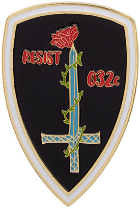 032c Gold and Black Resist Pin