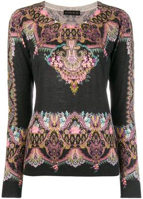 Etro embroidered long-sleeve sweater