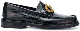 Versace croco-embossed loafers