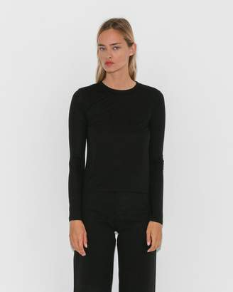 Alexanderwang.T Cropped Long Sleeve w/Chest Pocket
