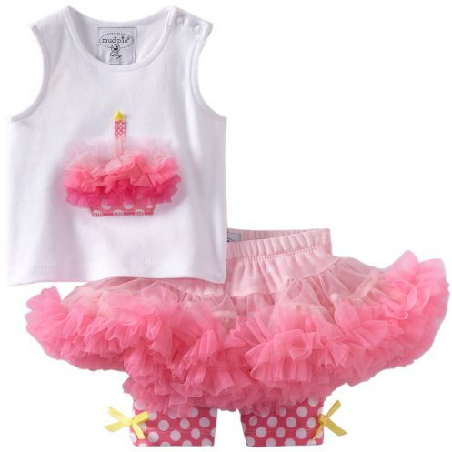 Mud Pie Baby-girls Newborn Party Time Cupcake Pettiskirt Set