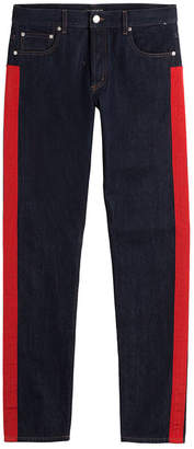 Alexander McQueen Straight Leg Jeans with Racing Stripes