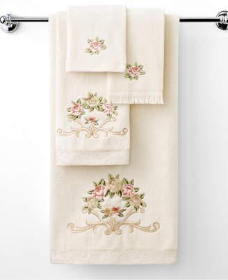 """Avanti Rosefan"""" Hand Towel, 16x28"""" Bedding"""