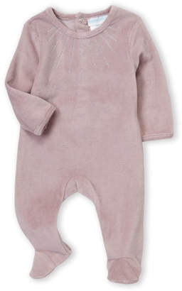 Baby Essentials Baby Dove (Newborn Girls) Purple Velour Long Sleeve Footie