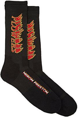 "Heron Preston Men's ""Flowers"" Mid-Calf Socks $60 thestylecure.com"
