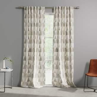 west elm Cotton Canvas Zigzag Reflection Curtains (Set of 2)