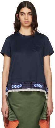 Sacai Navy Trim T-Shirt