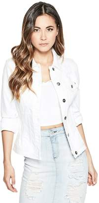G by Guess Women's Karlee Destroyed Denim Jacket