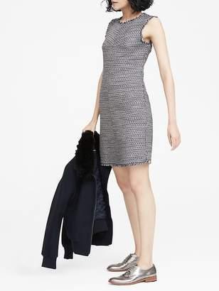 Banana Republic Italian Tweed Bias-Cut Shift Dress