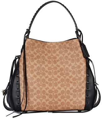 Coach Edie Large Monogrammed Leather Tote