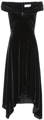 Peter Pilotto Velvet off-the-shoulder dress