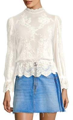 The Kooples Western Jewel Lace Top