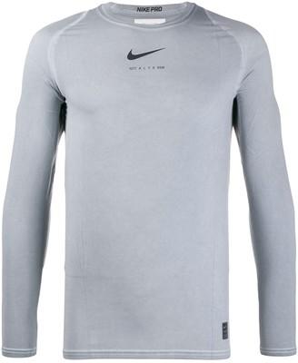 Alyx x Nike logo-print top