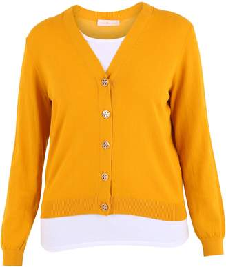 Tory Burch Yellow Cardigan