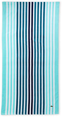 Lacoste Turquoise Vertical Stripe Beach Towel
