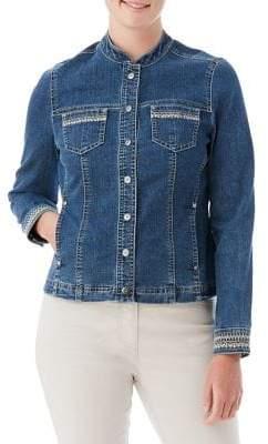 Olsen Emrboidered Denim Jacket